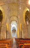 Interior of Porto cathedral Stock Image