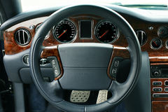 Interior of the prestigious car Stock Photography