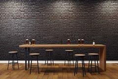 Interior preto criativo da barra Imagens de Stock Royalty Free