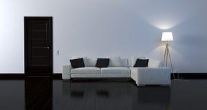 Interior preto e branco Fotografia de Stock