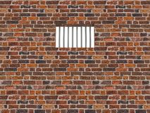 The interior of the prison cell, barred window Royalty Free Stock Image