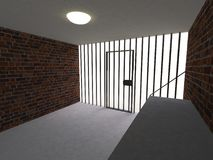 The interior of the prison cell Stock Photos