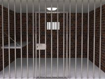 The interior of the prison cell Royalty Free Stock Photo