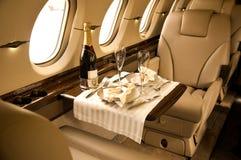 Interior privado del aeroplano Fotos de archivo libres de regalías