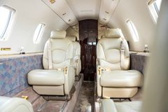 Interior Of Private Jet Royalty Free Stock Photo