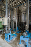 Interior of processing plant Stock Images