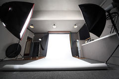 Interior of professional photo studio Royalty Free Stock Photos