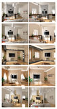 Interior project scetch set. Modern interior project scetch set (different styles) - 3D Stock Photography