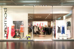 Interior of Promod fashion clothes store Royalty Free Stock Images