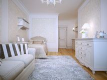 Interior of a provence style bedroom Royalty Free Stock Images