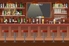 Interior of pub, cafe or bar. royalty free stock image