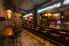 Interior of pub. This is interior of modern european pub Royalty Free Stock Photography
