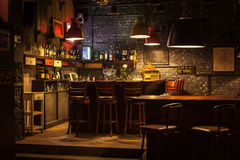 Interior of pub. Royalty Free Stock Image
