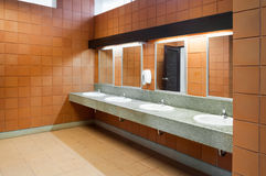 Interior of public clean toilet in a shared toilet there is a wide selection Royalty Free Stock Images