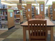 Interior of a  public library in community Royalty Free Stock Image