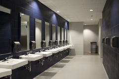 Interior of public restroom Royalty Free Stock Images
