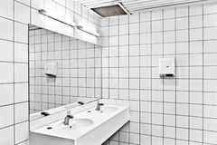 Interior of public restroom Stock Photography