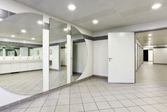 Interior of a public toilets Royalty Free Stock Image