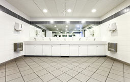 Interior of a public toilets Stock Photography
