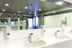 Interior of a public toilets Royalty Free Stock Photography