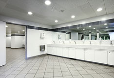 Interior of a public toilets Stock Image