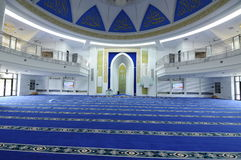 Interior of Puncak Alam Mosque at Selangor, Malaysia Royalty Free Stock Image