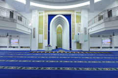 Interior of Puncak Alam Mosque at Selangor, Malaysia Royalty Free Stock Photography