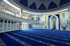 Interior of Puncak Alam Mosque at Selangor, Malaysia Royalty Free Stock Images