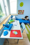 Interior of pupil's room Royalty Free Stock Photos