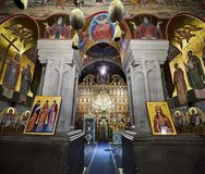 Interior of Putna monastery, Bucovina, Romania Royalty Free Stock Image