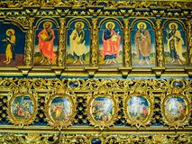 Interior of Putna monastery, Bucovina, Romania Stock Photography