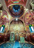 Interior of Putna monastery, Bucovina, Romania Royalty Free Stock Photo