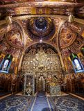 Interior of Putna monastery, Bucovina, Romania Stock Photos