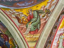 Interior of Putna monastery, Bucovina, Romania Royalty Free Stock Photography