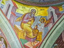 Interior of Putna monastery, Bucovina, Romania Royalty Free Stock Photos