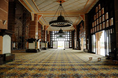 Interior of Putra Mosque in Malaysia Royalty Free Stock Photography