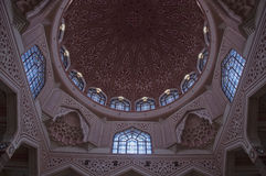 Interior of Putra Mosque Stock Image
