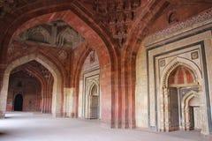 Interior of Qila-i-kuna Mosque, Purana Qila, New Delhi, India Stock Image