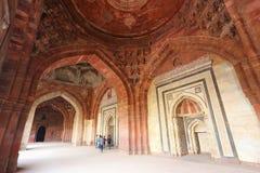 Interior of Qila-i-kuna Mosque, Purana Qila, New Delhi, India Stock Photography