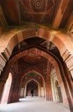 Interior of Qila-i-kuna Mosque, Purana Qila, New Delhi, India Stock Photo