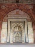 Interior of Qila-i-kuna Mosque, Purana Qila, New Delhi, India Royalty Free Stock Images