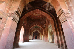 Interior of Qila-i-kuna Mosque, Purana Qila, New Delhi, India Stock Images