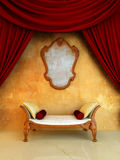 Interior - quarto de assento clássico do estilo