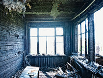 Interior queimado fotos de stock
