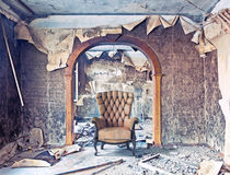 Interior queimado Fotografia de Stock Royalty Free