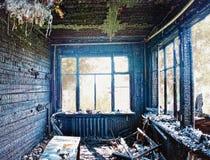 Interior queimado imagem de stock