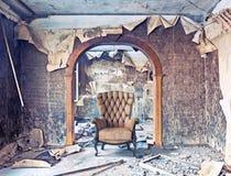 Interior quemado Fotografía de archivo libre de regalías
