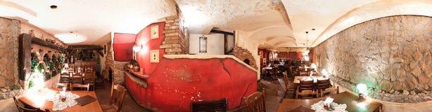 Interior rústico del restaurante Fotos de archivo libres de regalías