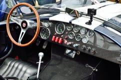Interior of the race vintage car Stock Photos