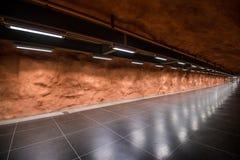 Interior of Radhuset metro station in Stockholm, Sweden. Stock Photos